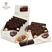 歌斐颂 纯可可脂纯黑巧克力320g 58%可可进口料休闲零食品黑巧