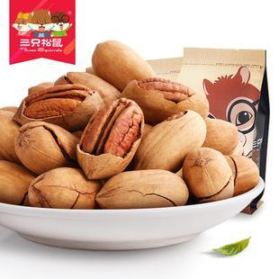 【三只松鼠_碧根果210gx2袋】零食坚果山核桃长寿果干果奶油味