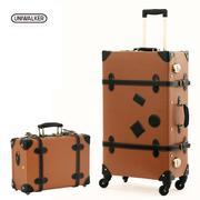 uniwalker韩国复古旅行箱万向轮拉杆箱行李箱女24寸26寸密码皮箱